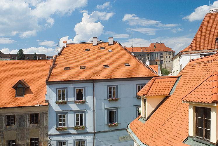 Výhled z okna, Hotel Na louži, Český Krumlov, foto: Michal Tůma